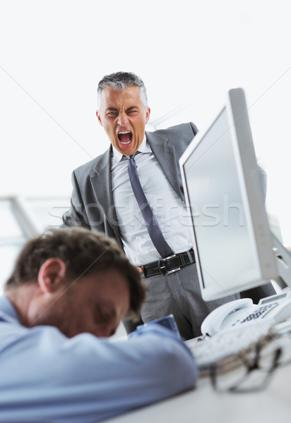 Wake up! You are at work! Stock photo © stokkete