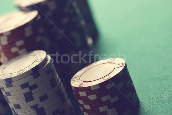Poker blackjack puces vert rouge Photo stock © stokkete