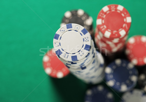 Poker chips stacks Stock photo © stokkete