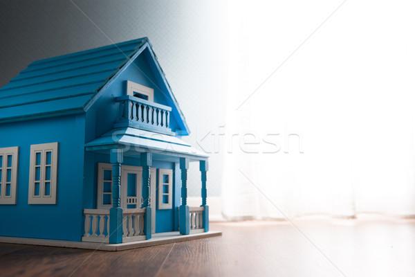 Blue model house Stock photo © stokkete