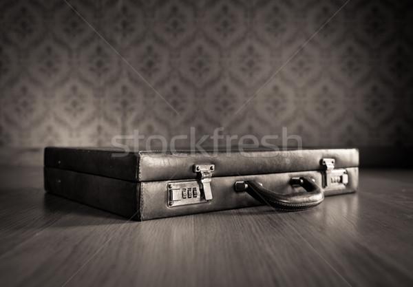Vintage leather briefcase Stock photo © stokkete