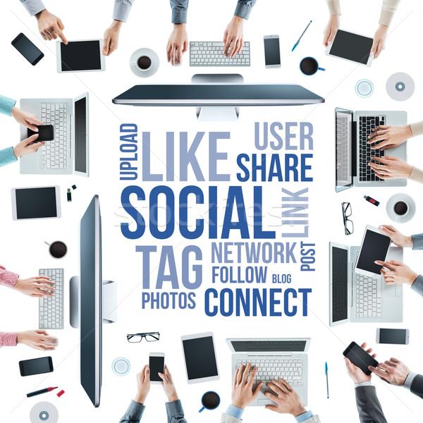 Social network community Stock photo © stokkete