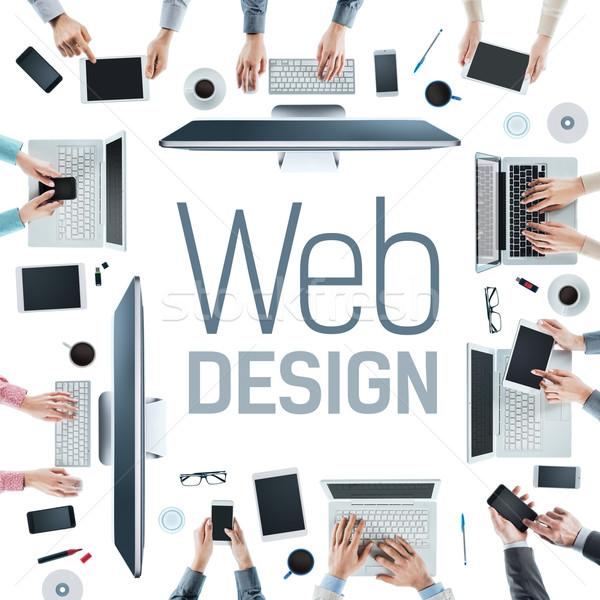 Web designers at work Stock photo © stokkete