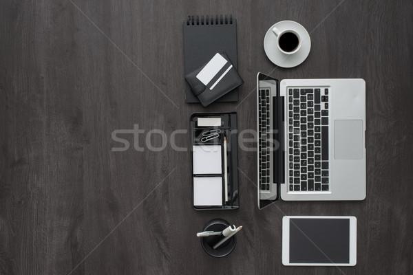 Stok fotoğraf: Kurumsal · iş · Çalışma · alanı · masaüstü · dizüstü · bilgisayar · dijital