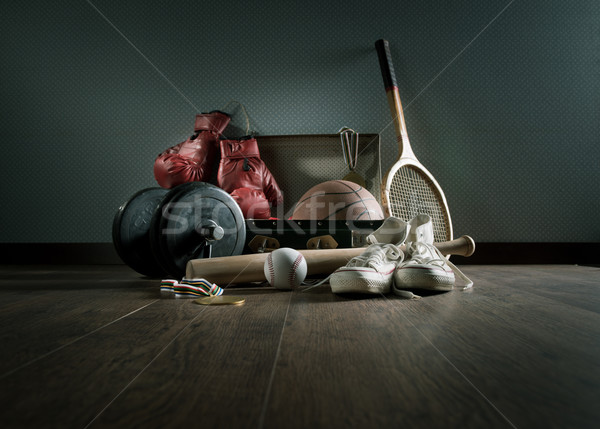 Teenager sports equipment Stock photo © stokkete