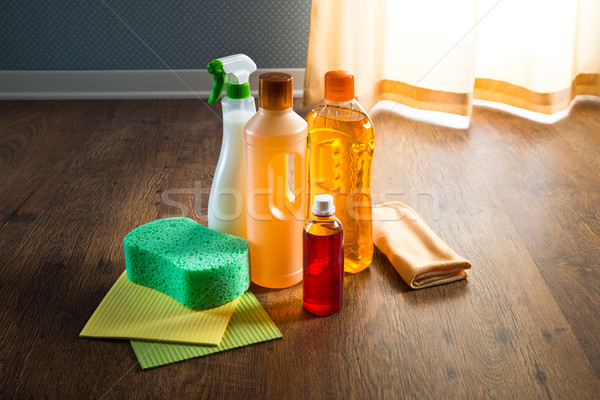 Wood floor cleaner products Stock photo © stokkete