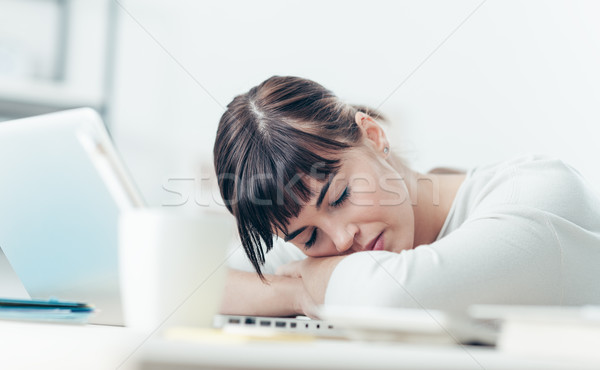 Woman sleeping on the job Stock photo © stokkete