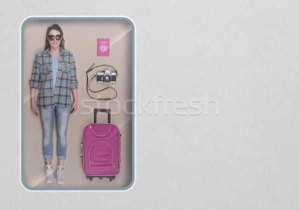 The tourist realistic doll Stock photo © stokkete