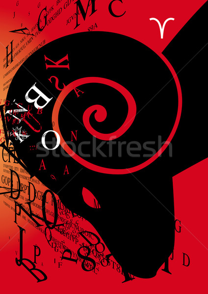 zodiac sign aries Stock photo © stokkete