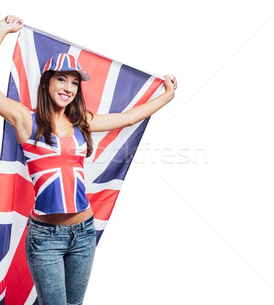 Britannique fille pavillon cute Photo stock © stokkete