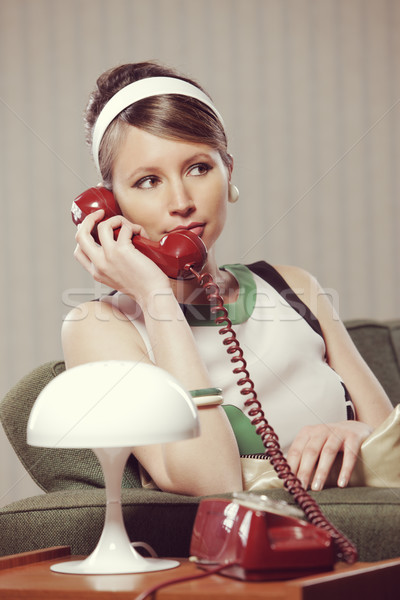 woman talking on the phone Stock photo © stokkete