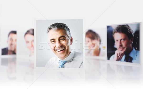 Photo stock: équipe · commerciale · portraits · groupe · gens · d'affaires · blanche · affaires