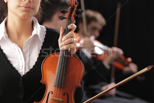 Violinist woman Stock photo © stokkete