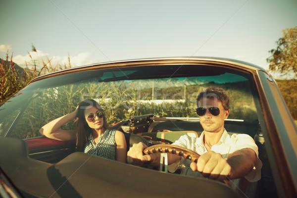 Couple taking a road trip Stock photo © stokkete
