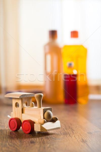 Hardwood floor safe cleaning Stock photo © stokkete