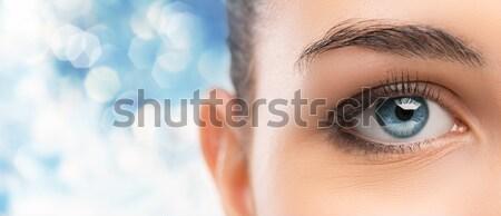 Bella occhi primo piano blu guardando Foto d'archivio © stokkete
