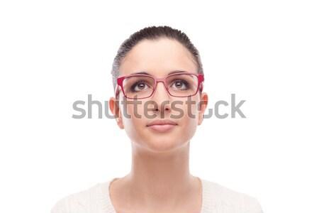 Smiling model posing with fashion eyewear Stock photo © stokkete