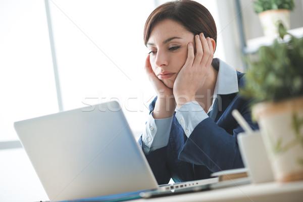 Nudny pracy depresji nudzić kobieta interesu pracy Zdjęcia stock © stokkete