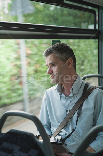 Traveling by bus Stock photo © stokkete