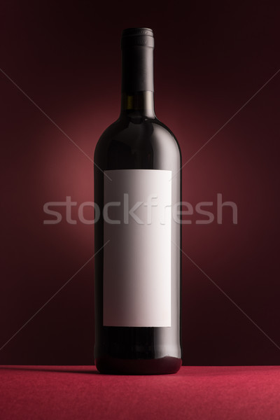 Ottimo vino rosso bottiglia etichetta rosso vino Foto d'archivio © stokkete