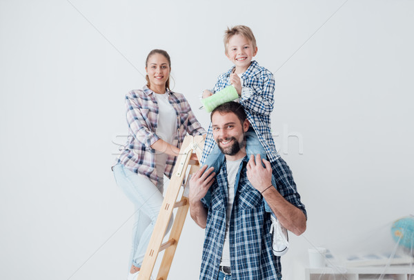 Family home renovation Stock photo © stokkete