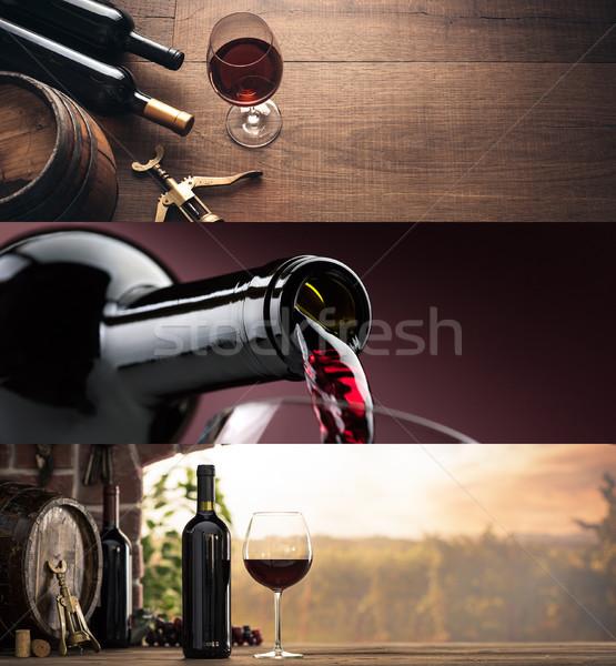 Cata de vinos excelente vino tinto degustación vino Foto stock © stokkete