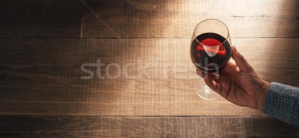 Sommelier tasting excellent red wine Stock photo © stokkete