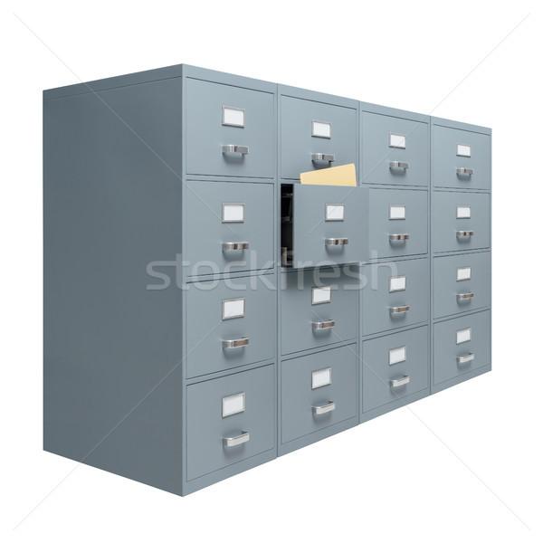 Kabinet Open lade witte opslag administratie Stockfoto © stokkete