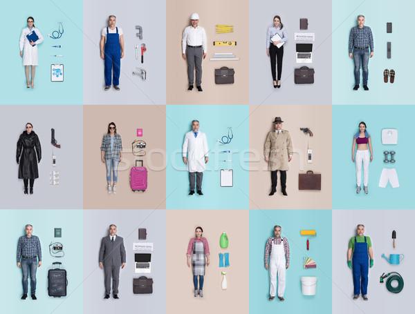 Ludzi lalek kolekcja mężczyzna kobiet inny Zdjęcia stock © stokkete