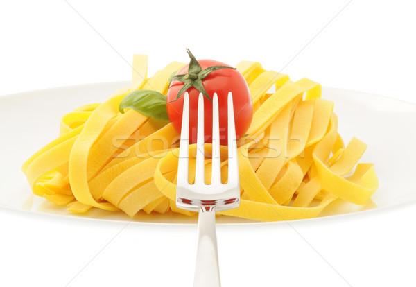 Olasz tészta étel fotó enyém portfólió Stock fotó © stokkete