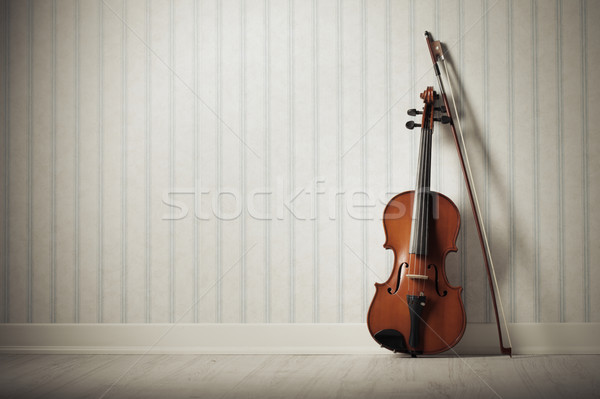 Violín arco música pared wallpaper Foto stock © stokkete