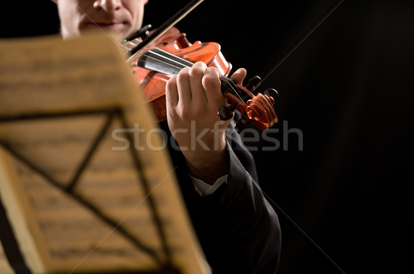 Solo violin performance Stock photo © stokkete