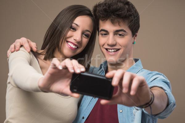 Stockfoto: Jonge · vrolijk · paar · foto's