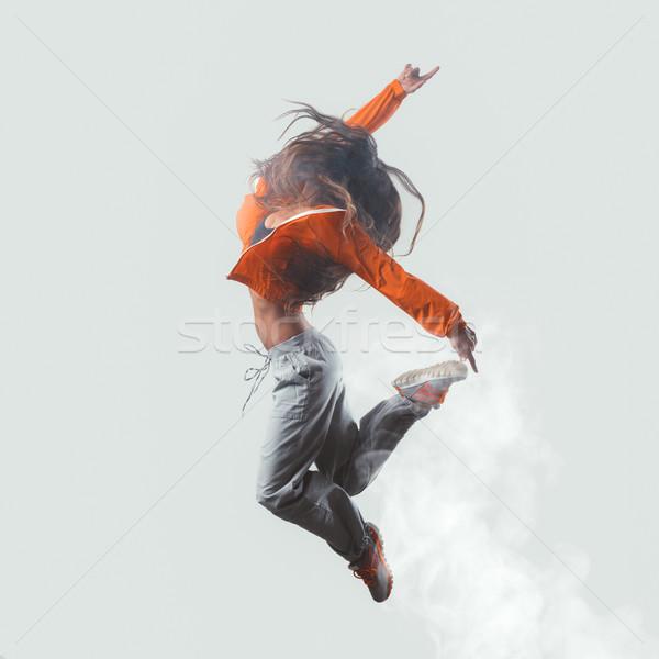 Stok fotoğraf: Modern · dansçı · atlama · dinamik · modern · tarzda