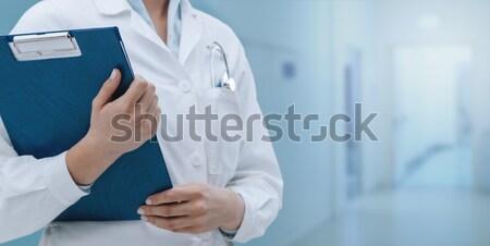 Profesyonel kadın doktor poz Stok fotoğraf © stokkete