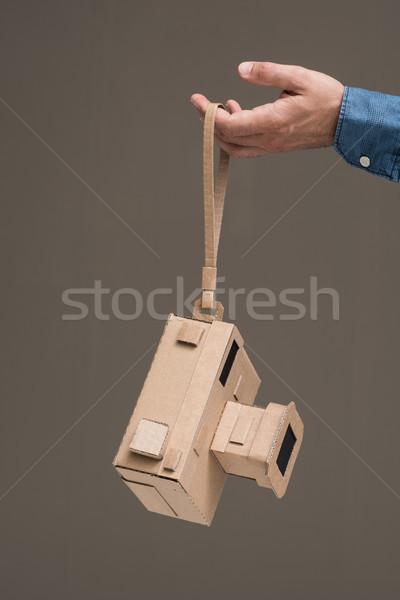 Cartón cámara fotógrafo hecho a mano artesanía Foto stock © stokkete