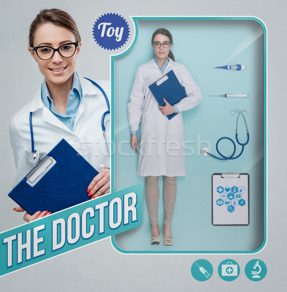 The female doctor realistic doll Stock photo © stokkete