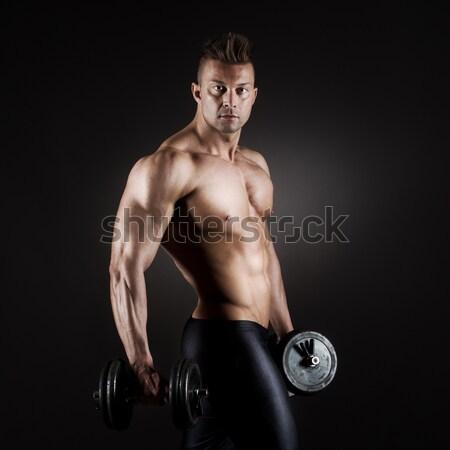 Muscular male athlete Stock photo © stokkete
