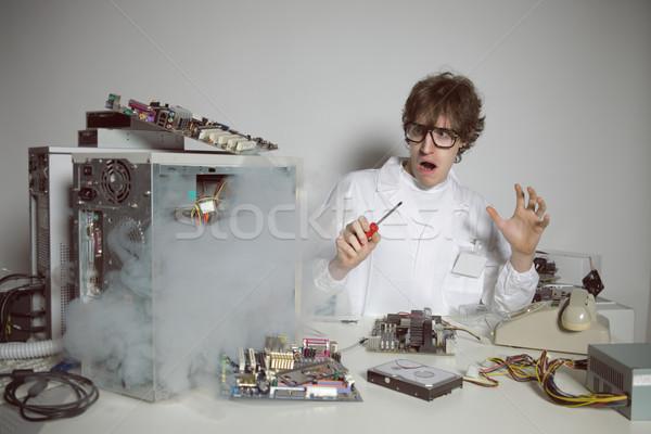 Reparação de computadores computador técnico reparar trabalhando apoiar Foto stock © stokkete