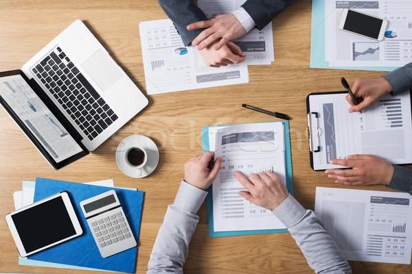 Stock foto: Business · Teamarbeit · Geschäftsleute · Team