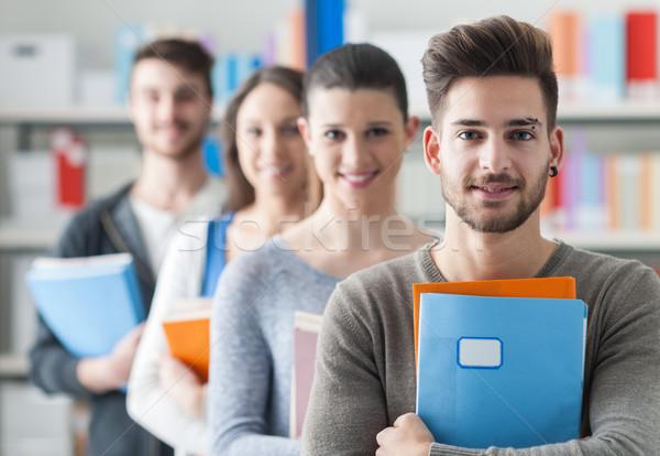 группа студентов библиотека колледжей Постоянный линия Сток-фото © stokkete