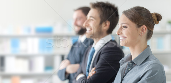 деловые люди семинара улыбаясь бизнеса служба Сток-фото © stokkete