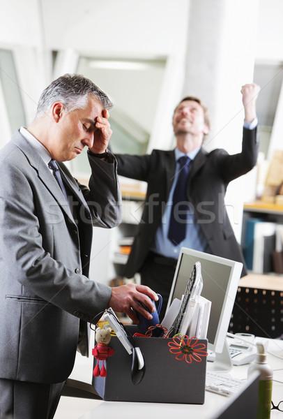 Ofis çalışanı iş arkadaşı ofis erkekler iş adamları büro Stok fotoğraf © stokkete