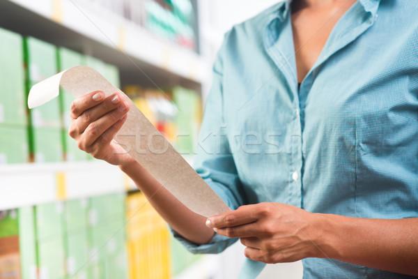 Stock photo: Grocery receipt