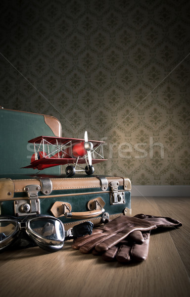 Vintage aviator equipment Stock photo © stokkete
