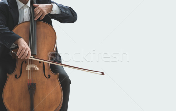 Profissional violoncelista jogar instrumento masculino violoncelo Foto stock © stokkete