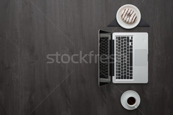 コーヒーブレイク 企業 ビジネス オフィス ノートパソコン エスプレッソ ストックフォト © stokkete