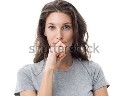 Confident pensive woman Stock photo © stokkete