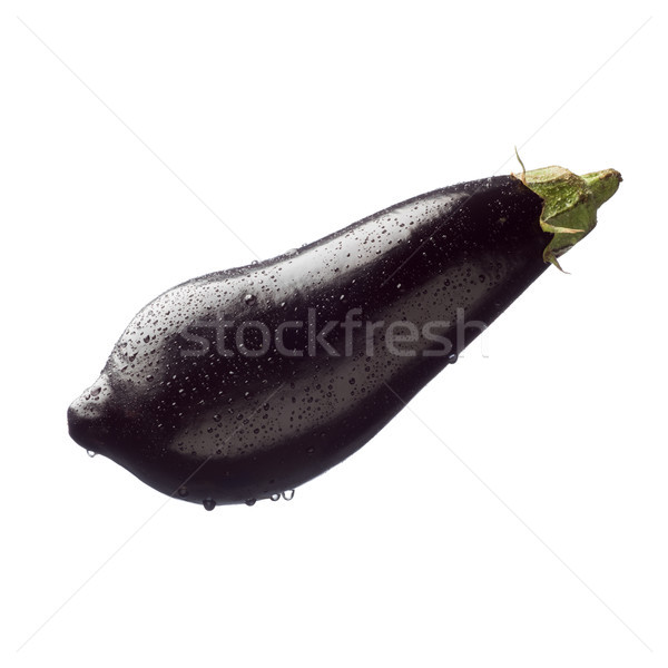 Fresh eggplant on white background Stock photo © stokkete