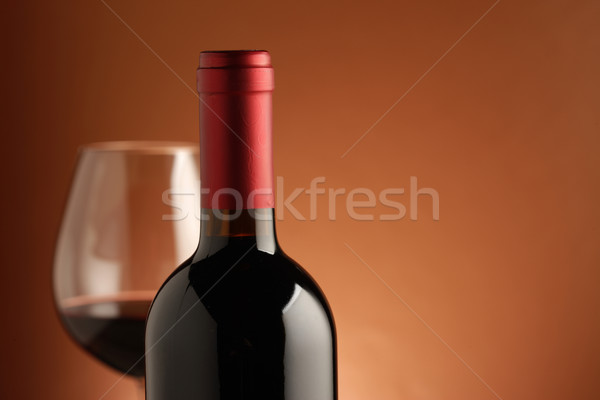 Vino rosso bottiglia bicchiere di vino Foto d'archivio © stokkete
